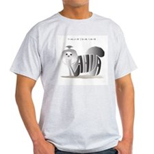 Anahita black and white shihtzu Ash Grey T-Shirt