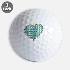 Woven Heart 10x10_all Golf Ball