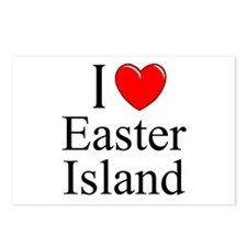 """I Love Easter Island"" Postcards (Package of 8)"