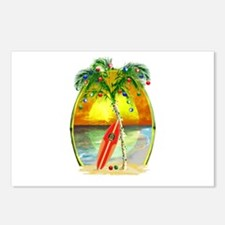 Christmas Beach Sunset Postcards (Package of 8)