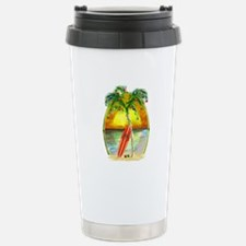 Christmas Beach Sunset Travel Mug