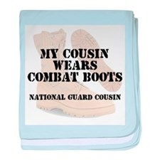 National Guard Cousin wears DCB baby blanket