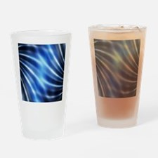 futuristic abstract blue lights fas Drinking Glass