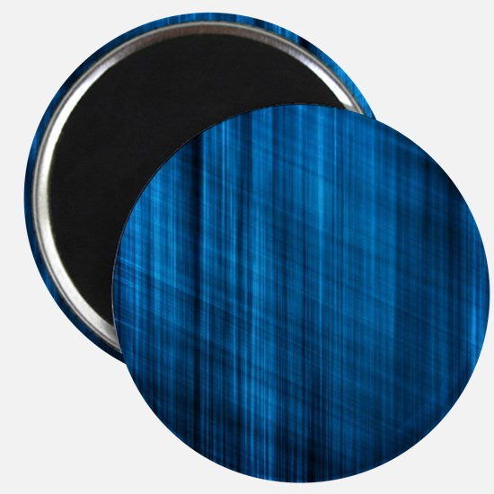 futuristic abstract blue geometric pattern Magnet