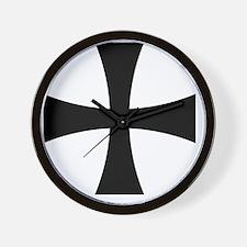 Cross Formee - Black Wall Clock