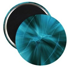 modern teal rays abstract art Magnet