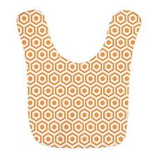 Orange Hexagon Honeycomb Bib