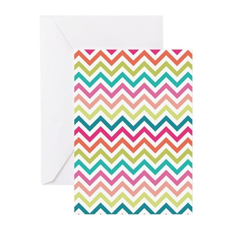 Colorful Zig Zags Greeting Cards (Pk of 20)