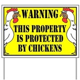 Farm chickens Yard Signs
