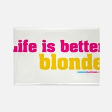 Life Is Better Blonde Rectangle Magnet