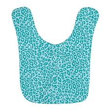 Blue Cheetah Print Bib