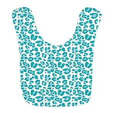 Blue Leopard Print Bib