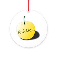 Kallisti_Apple Round Ornament