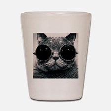 Cute cat  Shot Glass