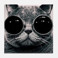 Cute cat  Tile Coaster