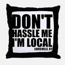 hassle_blk Throw Pillow