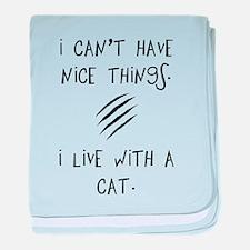 Funny Cat Quote baby blanket