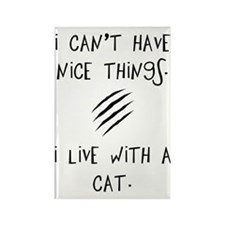 Funny Cat Quote Rectangle Magnet