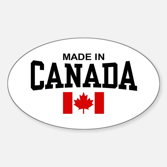 Made in Canada Oval Bumper Stickers