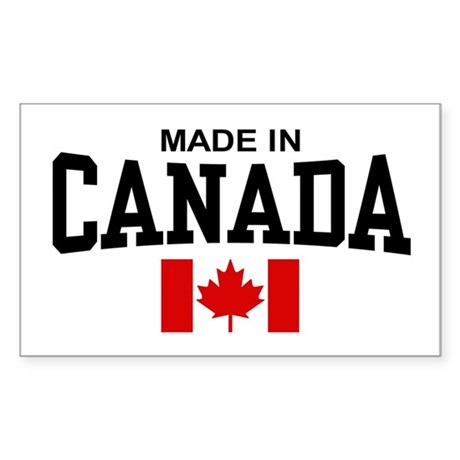 Made in Canada Rectangle Sticker