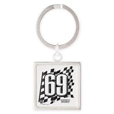 2-flagtag69 Square Keychain