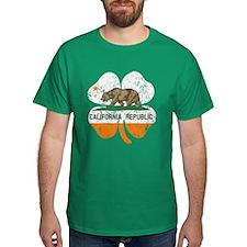 California Flag Shamrock Irish T-Shirt