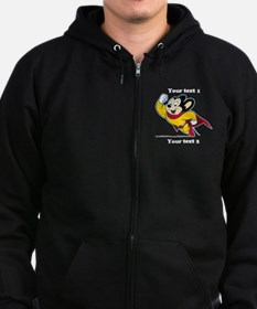 PERSONALIZE Mighty Mouse Zip Hoodie (dark)