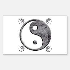 Yin Yang Rectangle Decal