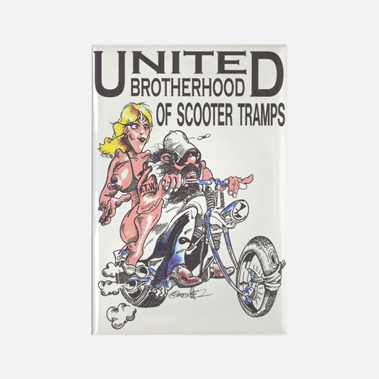 United Brotherhood of Scooter Tra Rectangle Magnet
