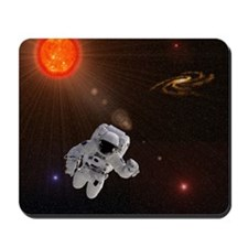 Astronaut And Sun With Stars Mousepad