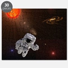 Astronaut And Sun With Stars Puzzle