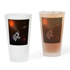 Astronaut And Sun With Stars Drinking Glass