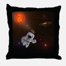 Astronaut And Sun With Stars Throw Pillow