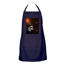 Astronaut And Sun With Stars Apron (dark)
