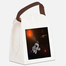 Astronaut And Sun With Stars Canvas Lunch Bag
