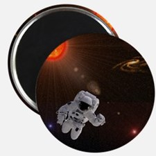 Astronaut And Sun With Stars Magnet