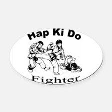 HapKiDoFighter Oval Car Magnet