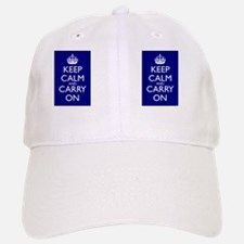 Keep Calm and Carry On Double Sided Mug Blue+W Baseball Baseball Cap