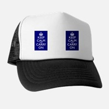 Keep Calm and Carry On Double Sided Mu Trucker Hat