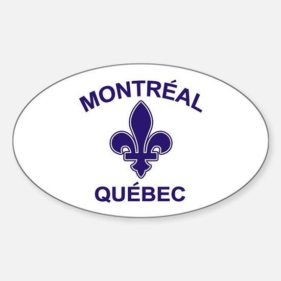 Montreal Quebec Oval Decal