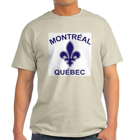 Montreal Quebec Ash Grey T-Shirt