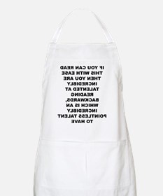 Reading Backwards Useless Talent Apron