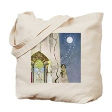 Out Popped the Moon Tote Bag