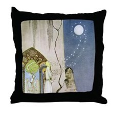 Out Popped the Moon Throw Pillow