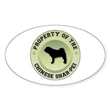 Shar-Pei Property Oval Decal
