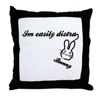 I'm Easily Distra...Bunny! Throw Pillow