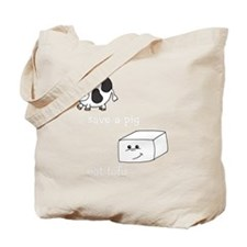 2-save a cow eat tofu 2 Tote Bag