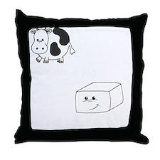 2-save a cow eat tofu 2 Throw Pillow