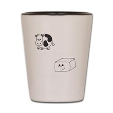 2-save a cow eat tofu 2 Shot Glass