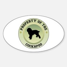 Cockapoo Property Oval Decal